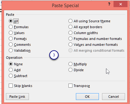 Figure - The Paste Special dialog box