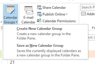 Figure - Create a calendar group