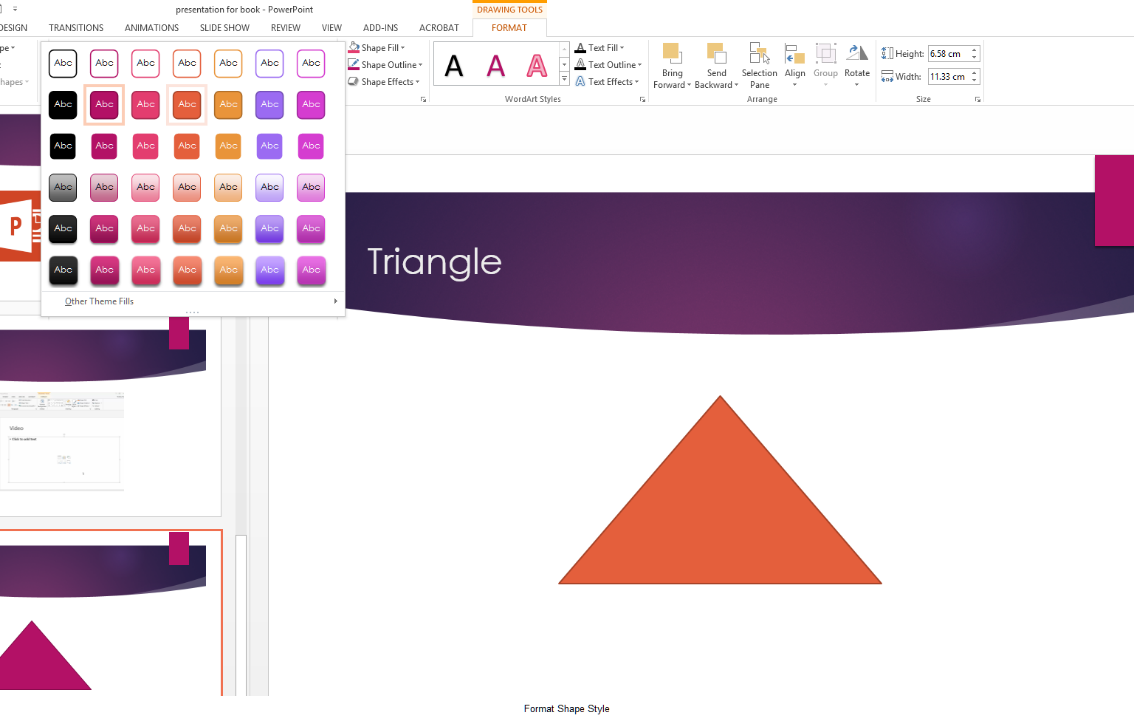 how to apply styles to slides in microsoft powerpoint 2013