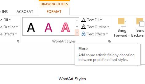 Figure - text styles