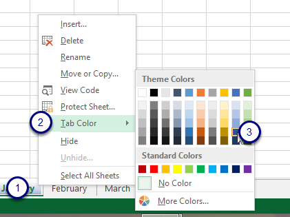 Figure - Change the tab colour
