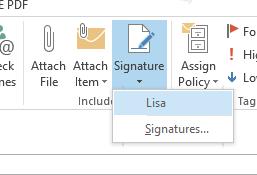 Figure - insert the signature