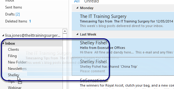 Drag multiple emails to file
