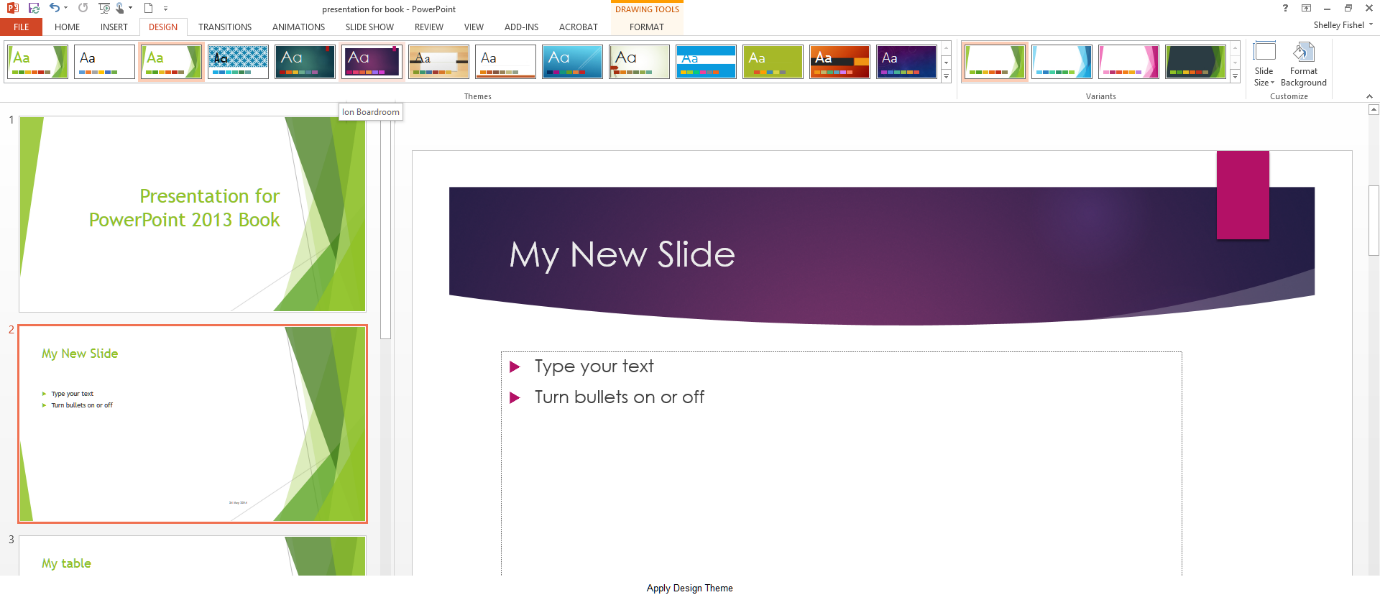 How to apply Styles to Slides in Microsoft PowerPoint 2013 - The ...