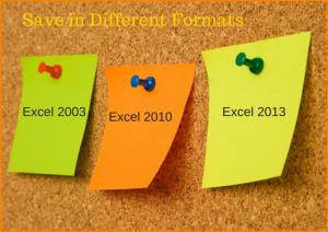 File Formats in Excel