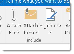Attachments in Outlook 2016