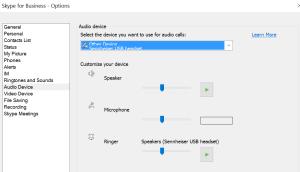 SFB Audio Settings Check
