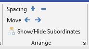 Arrange group options
