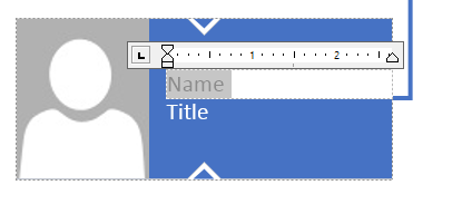 Text entry in shapes