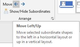 Arrange group move options