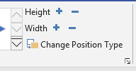 Height and width buttons