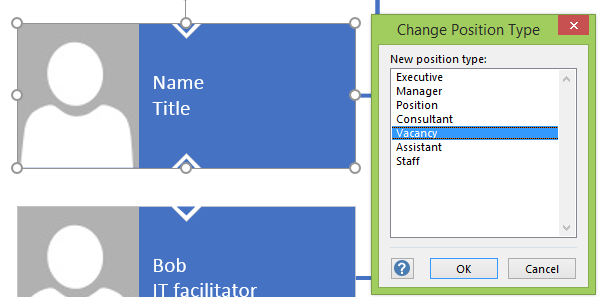 Changing position type