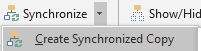 Synchronised copy button