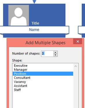 Multiple shapes dialog box